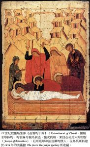 BH66-44-7374-圖1:russian icon Entombment of Christ.註