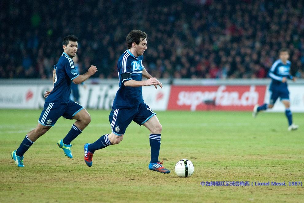 Sergio Agüero (L), Lionel Messi (R)