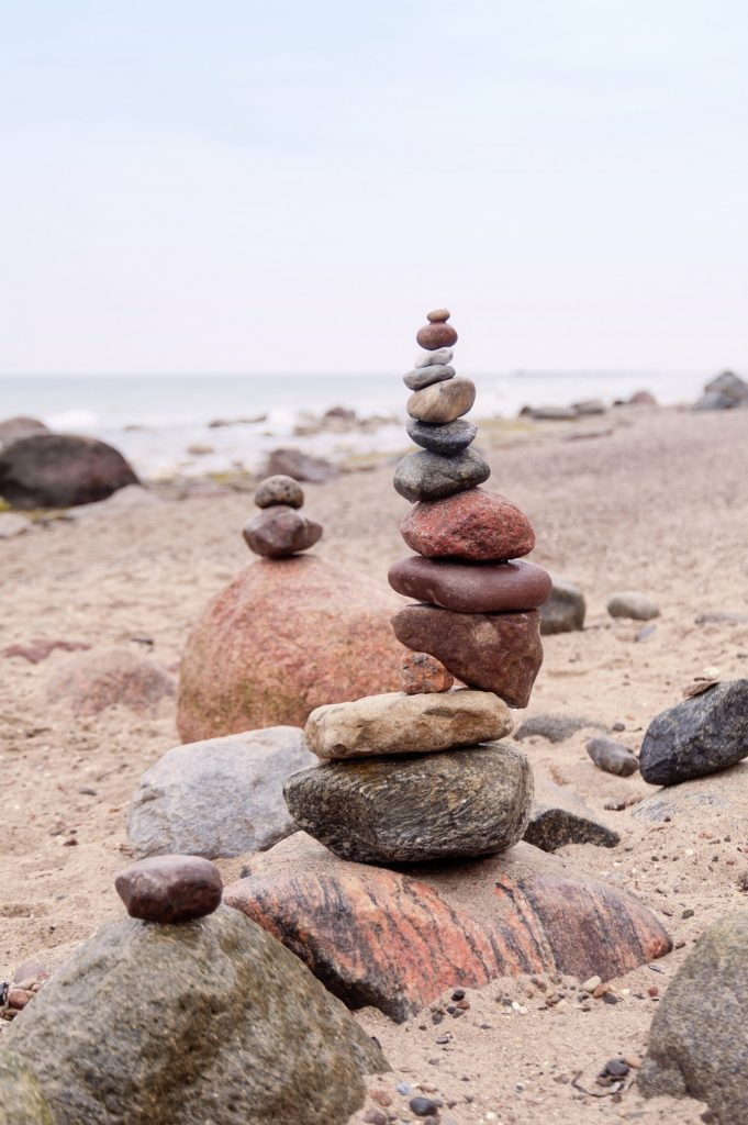 Balanced Pepples at the Baltic Sea of Germany