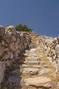 3500 years old stairs Crete-Gournia