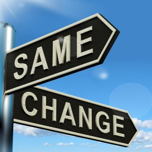 Change Same Signpost Showing That We Should Do Things Differently