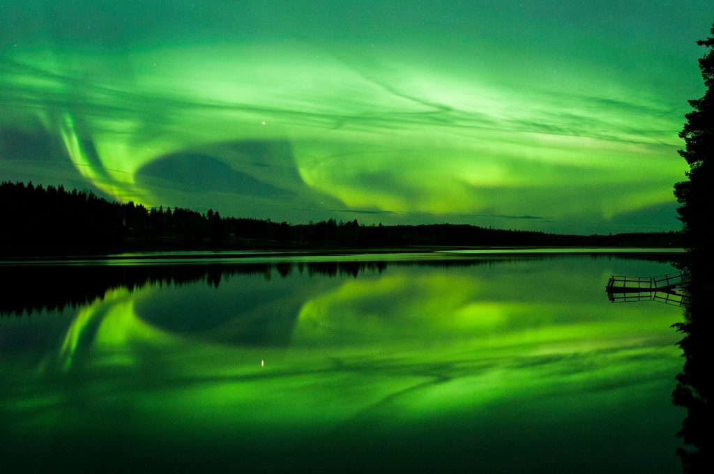 Beautiful northern lights in Petäjävesi, Central Finland Photo by Wilma Tyni
