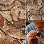 考古隊在加利利會堂發現挪亞方舟的鑲嵌(漁夫)2016.10.14